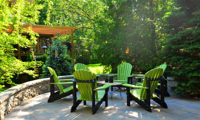Backyard with Professional Landscape Design