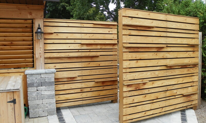 Tree Amigos Wooden Privacy Screens