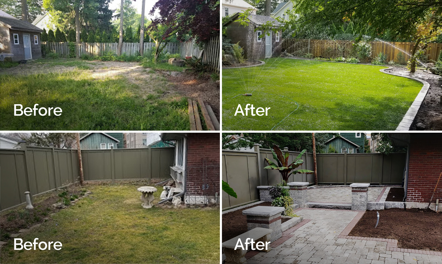 Before and After Views of Landscaping Projects