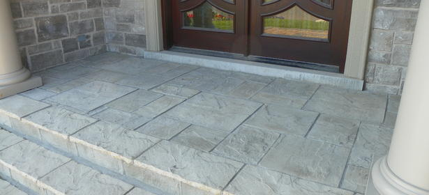 StoneLink slabs installed onto existing concrete steps